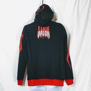 WWE Shirts - Men's WWE Finn Balor Demon Full Face Zip Hoodie